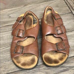 SAS Tripad comfort brown leather sandals size 8